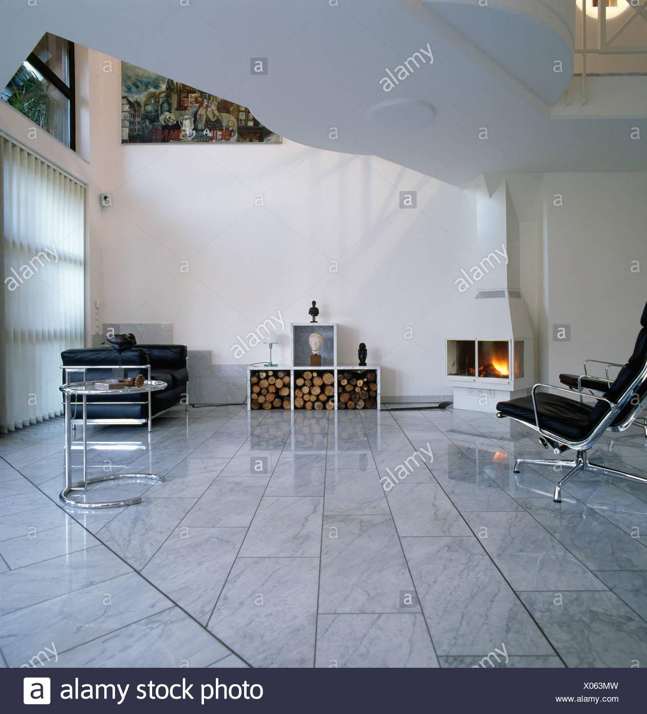 Marmor Fliesen Bodenbelag In Den Achtziger Jahren Wohnzimmer Mit Eck