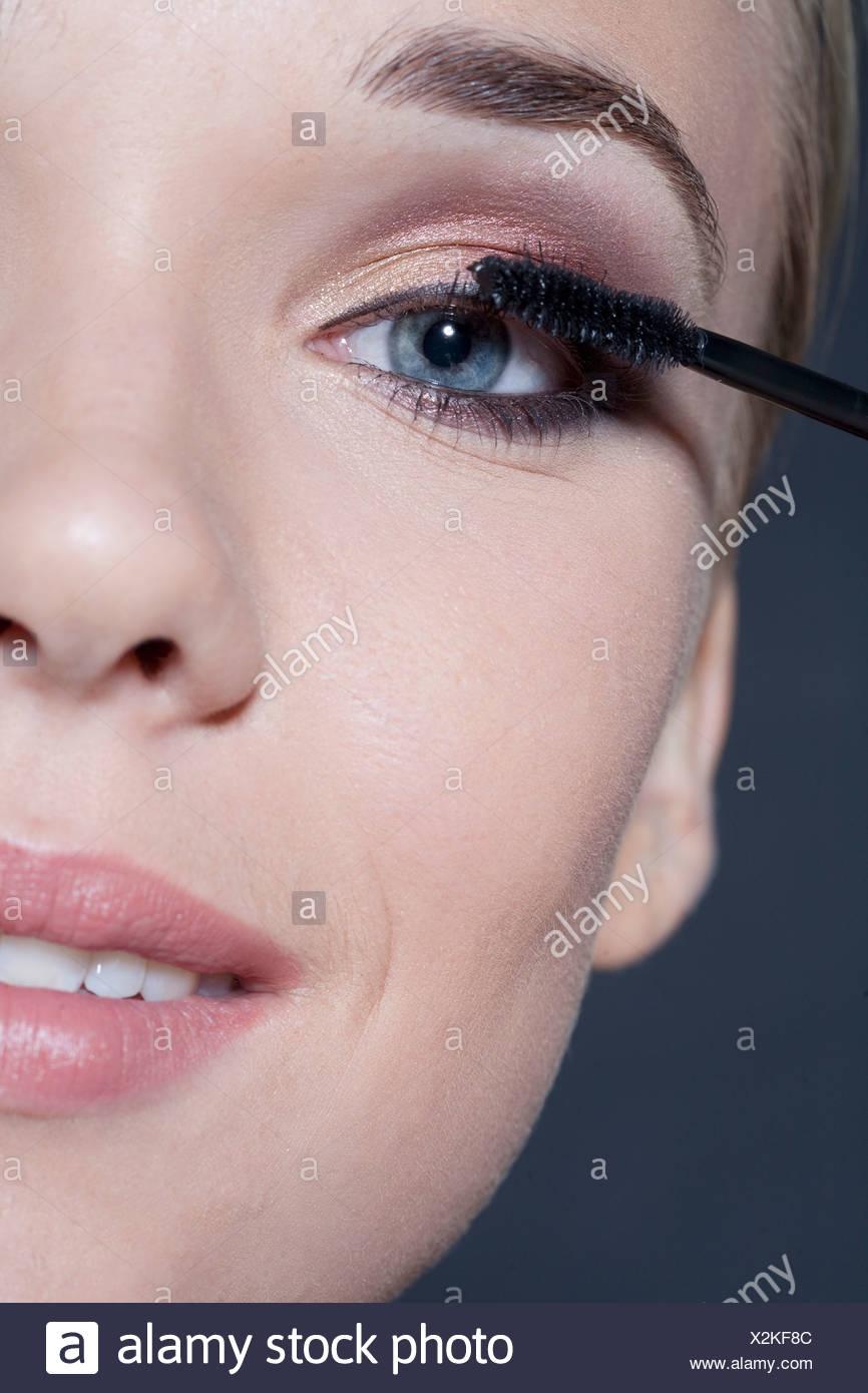 Elegant Augen Make Up Schritt Für Schritt Ideen Von Für Schönheit Und Machen Close Frauen Gesicht,