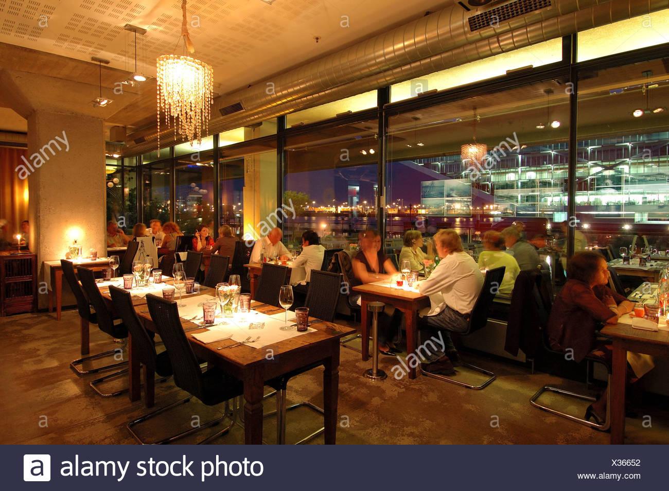 Interieur, Restaurant Au Quai, Altona, Hamburg, Deutschland ...