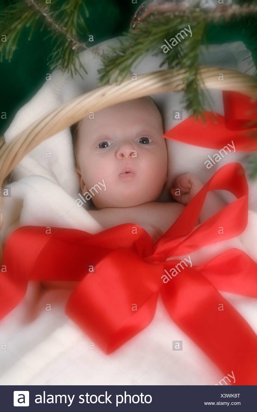 1 bis 2 monate 1 2 monate allein babys baby korb bett decke junge boys kaukasischen kind kinder weihnachten