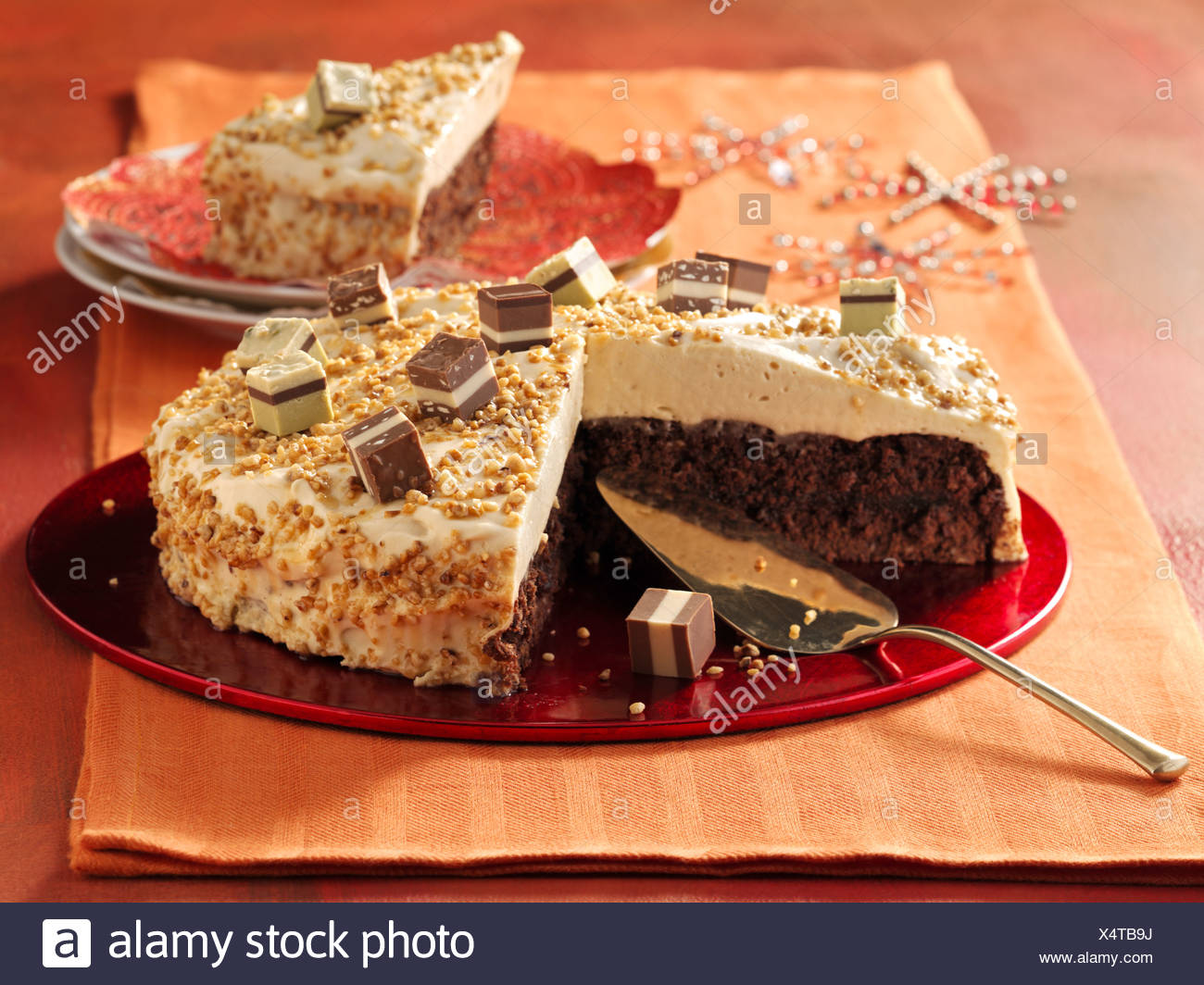 Toffee Sahne Kuchen Stockfoto Bild 278360254 Alamy