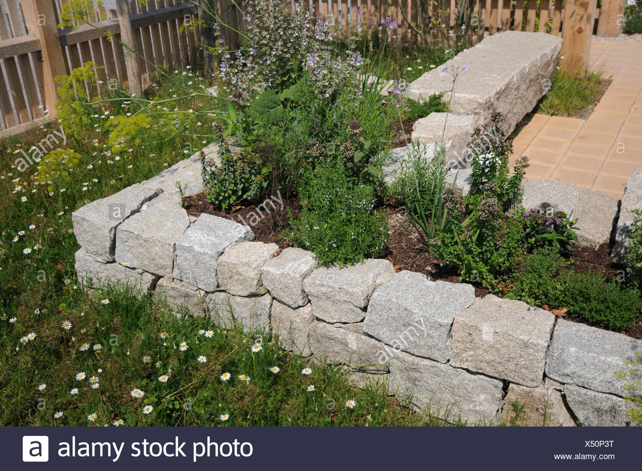 Hochbeet Granit Steinhaus Stockfoto Bild 278456524 Alamy