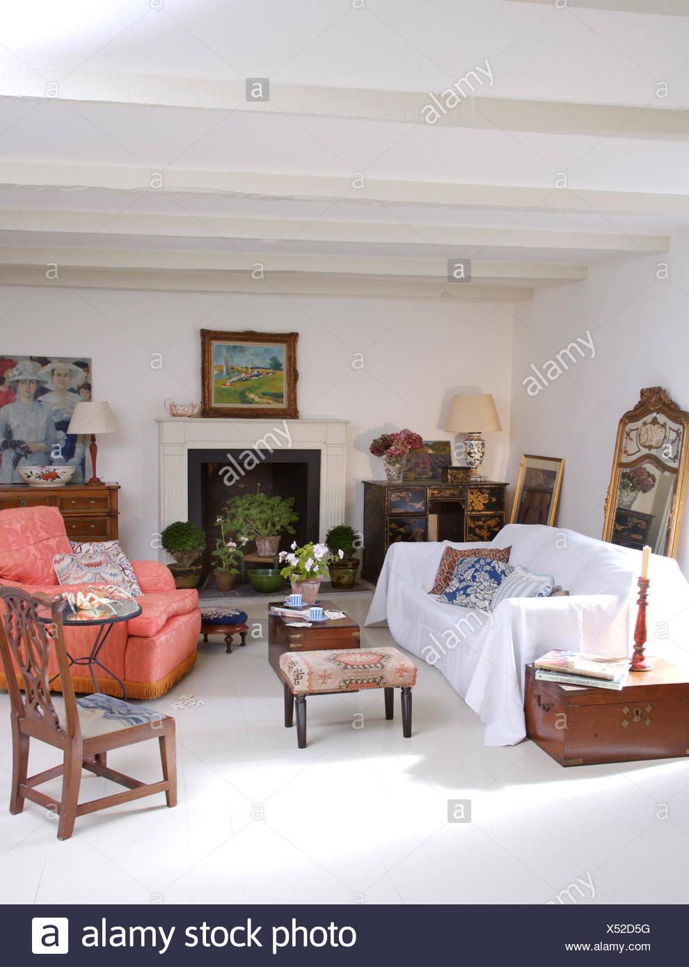 Bemerkenswert Sofa Wohnzimmer Ideen Von Weiß Auf Im Weiße Französische Land Mit