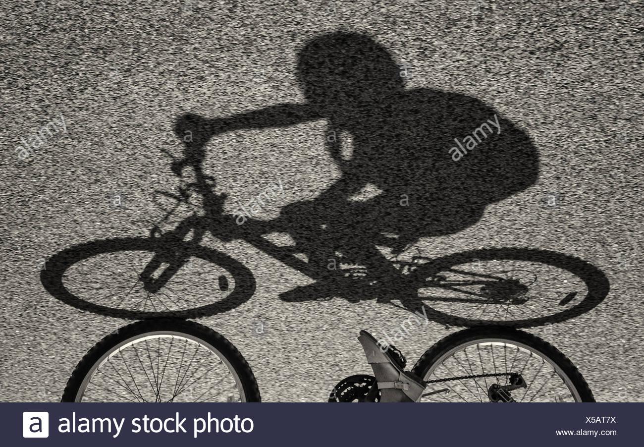 Schatten eines Mädchens mit dem Fahrrad Stockfoto, Bild: 278677726 ...