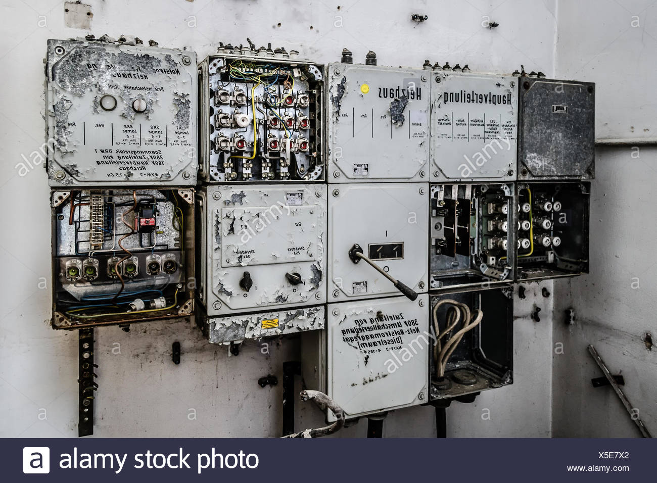 Old Fuse Box Stock Photo 278752714 Alamy Wiring