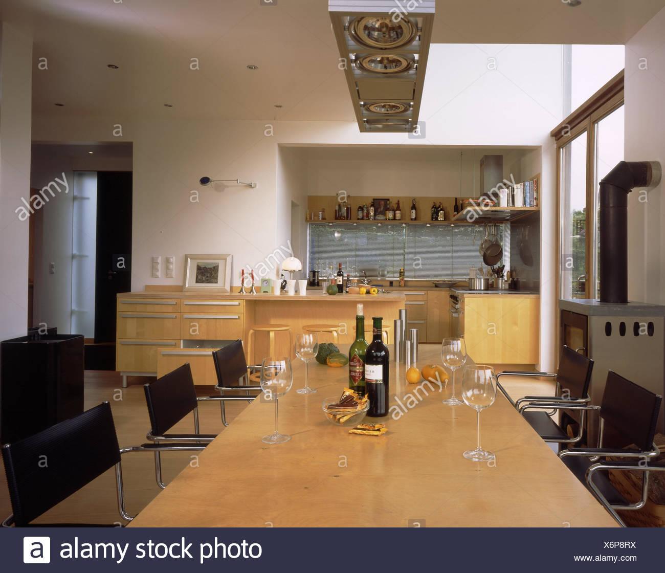 Wohnhaus, Küche-Wohnzimmer, Küche, Küchenblock, kulinarische ...