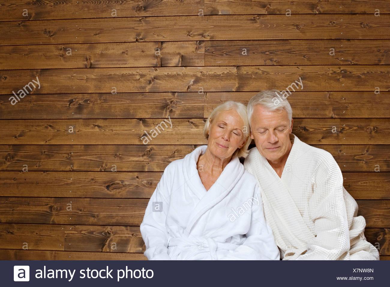 Älteres Paar gefangen