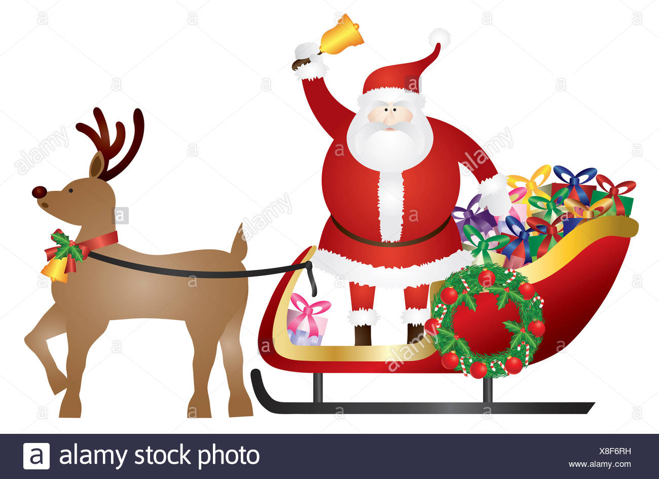 Fein Santa Schlitten Färbung Seite Ideen - Malvorlagen Von Tieren ...
