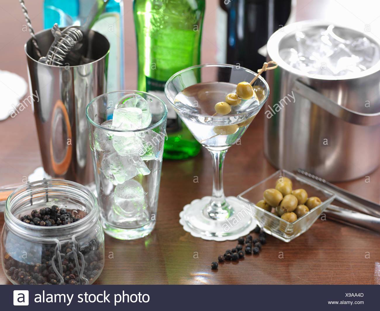 Traditionelle italienische Getränk der italienischen Martini ...