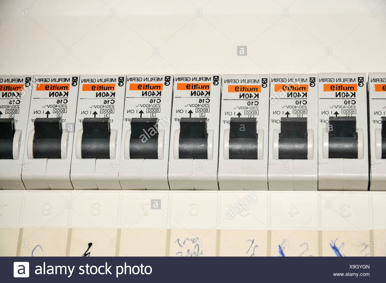 Breaker Fuse Box Switch Worksheet And Wiring Diagram Outdated Domestic Close Up With Trip Switches Circuit Breakers Stock Rh Alamy Com On Off Central Air Old Fuses