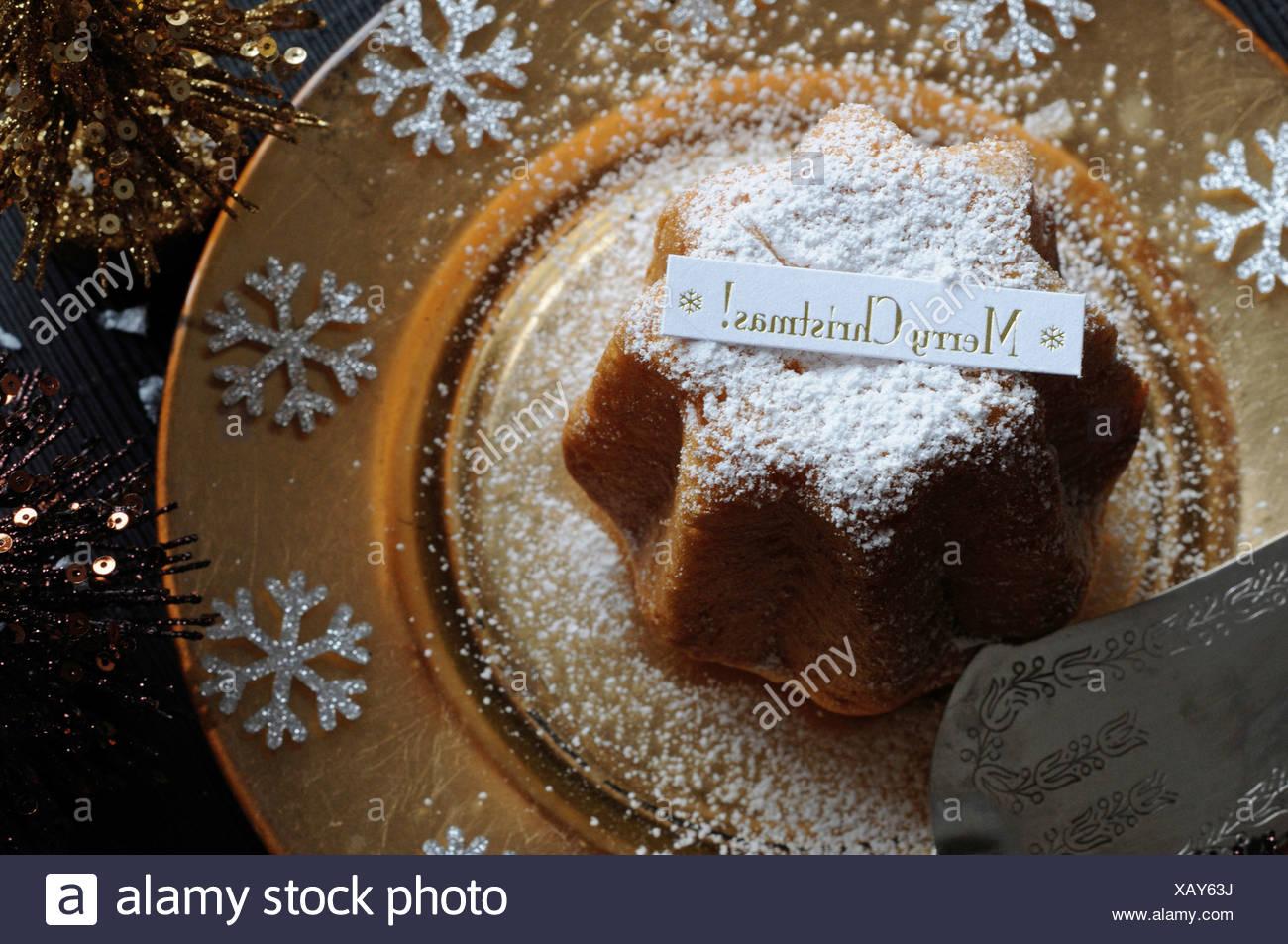 Italienischer Weihnachtskuchen Pandoro Stockfoto Bild 282109958