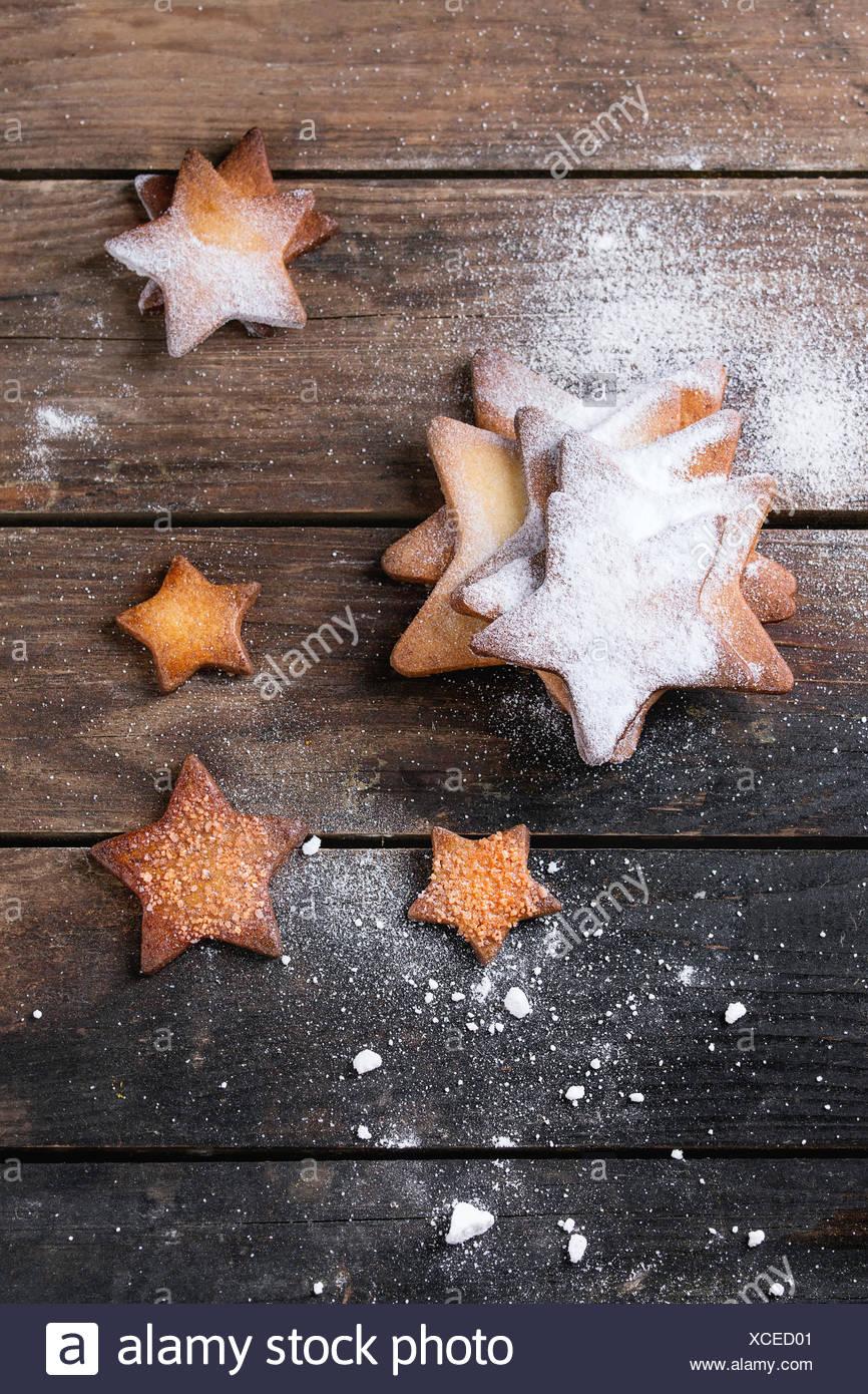 Hausgemachte Butterkekse Sternform sugar Cookies unterschiedlicher ...