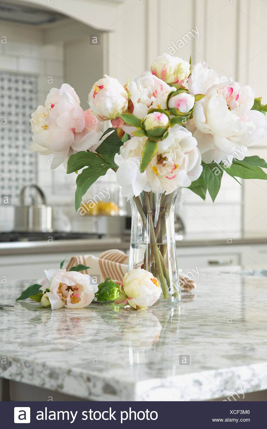 Blumen-Vase auf Granit Kücheninsel Stockfoto, Bild: 283073958 - Alamy