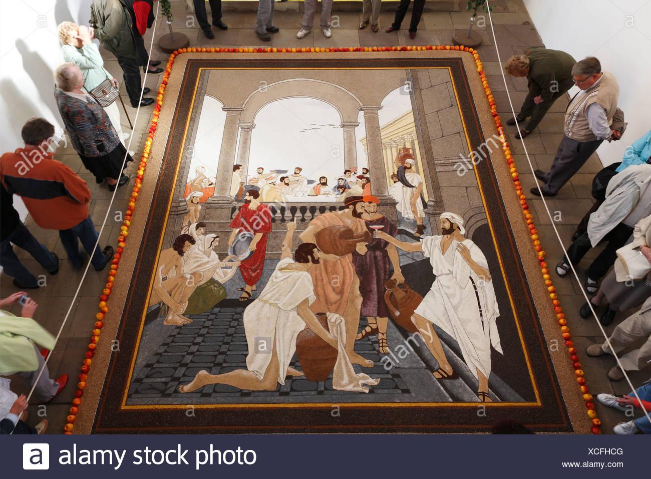 Hochzeit Von Kana Fruchte Teppich In Kirche Sargenzell Rhon