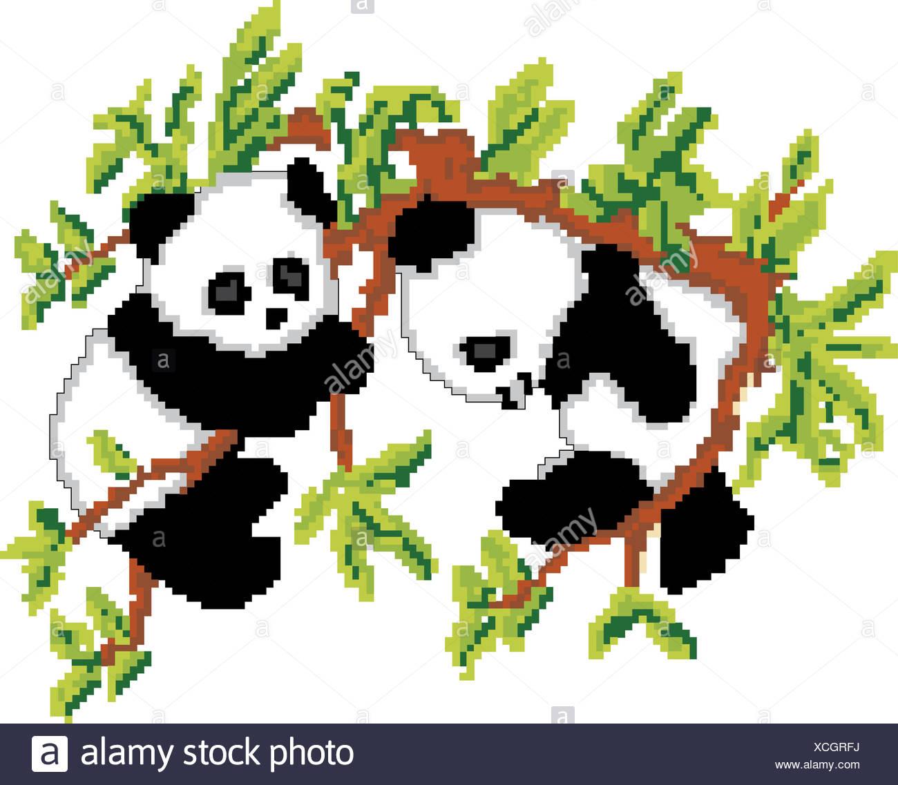 Pixel Art Bilder Panda