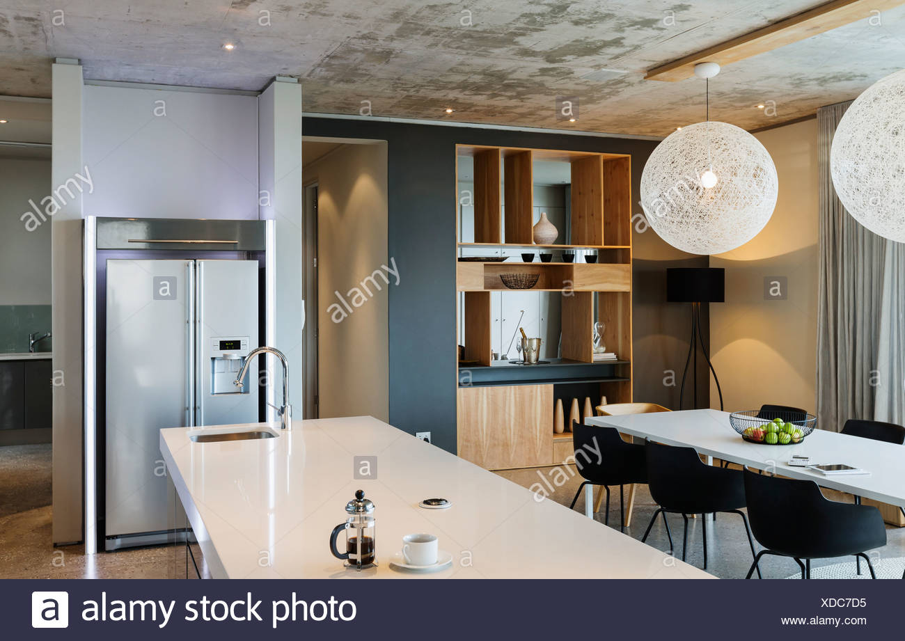 Moderne Esszimmer Und Küche