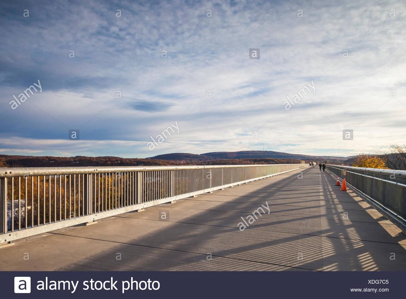 Usa New York Hudson Valley Poughkeepsee Fußweg über Den Hudson