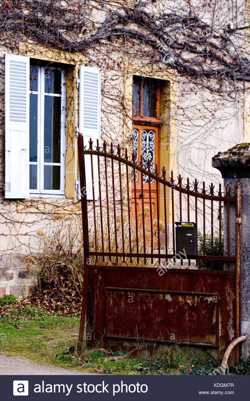 Verzauberkunst Fassade Haus Foto Von Tor, Alte, Offen, , Fassade, Detail,