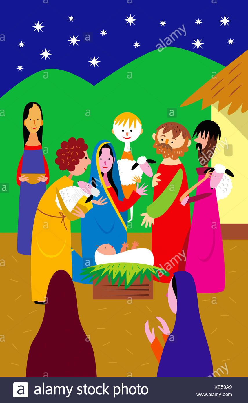 Ausgezeichnet Baby Jesus Färbung Seite Zeitgenössisch - Malvorlagen ...