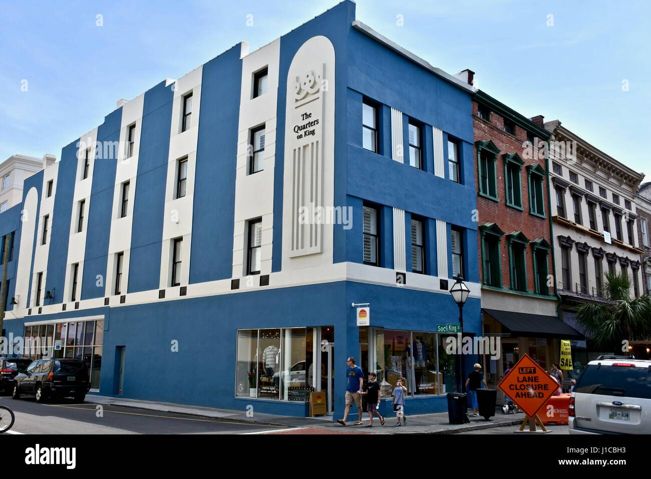 The quarters on king luxury boutique hotel in historic charleston south carolina stock image