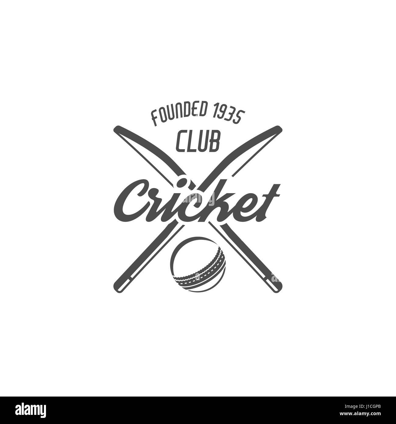 Cricket Club Emblem And Design Elements Cricket Team Logo Design