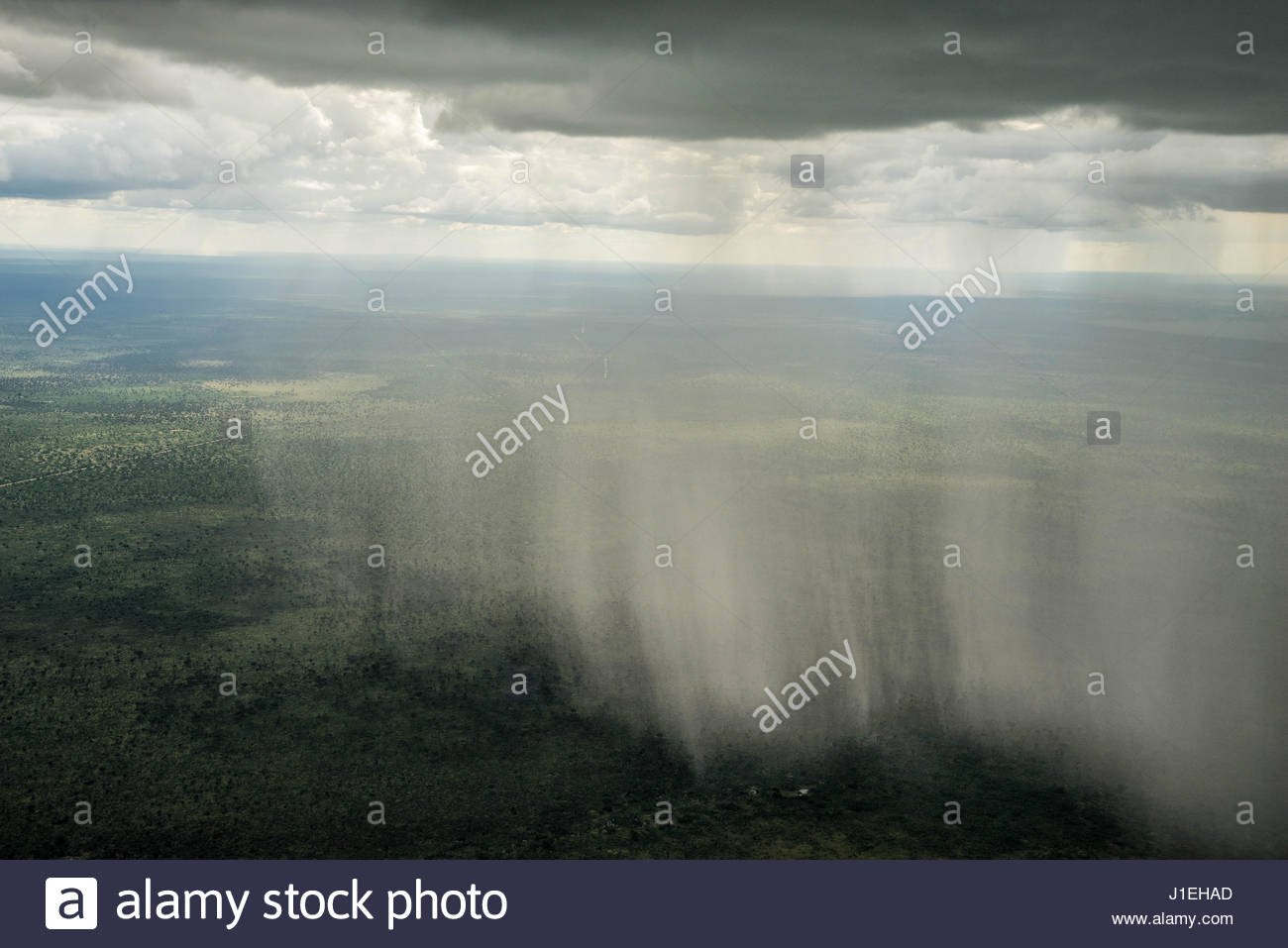 Rain Falling From Clouds