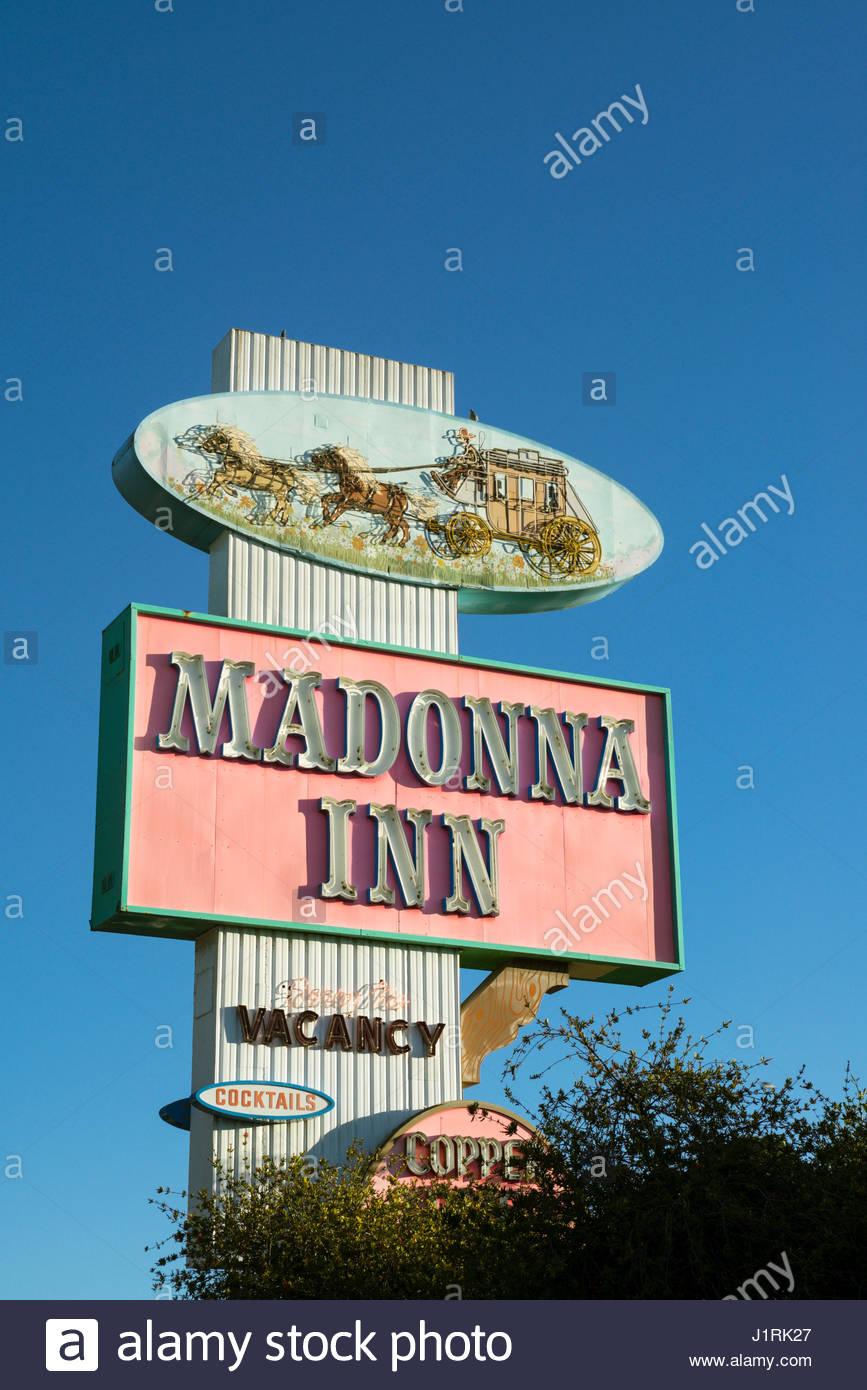 Madonna Fashion Show San Luis Obispo - The madonna inn sign san luis obispo california stock image