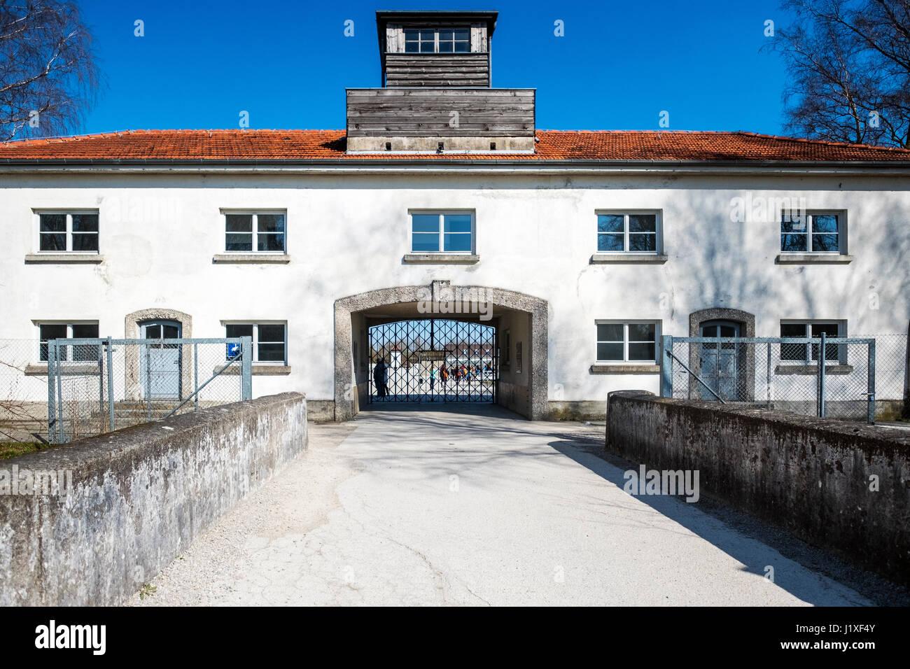 Dachau Concentration Camp Museum Building Stock Photos  Dachau - Concentration camp museums in usa