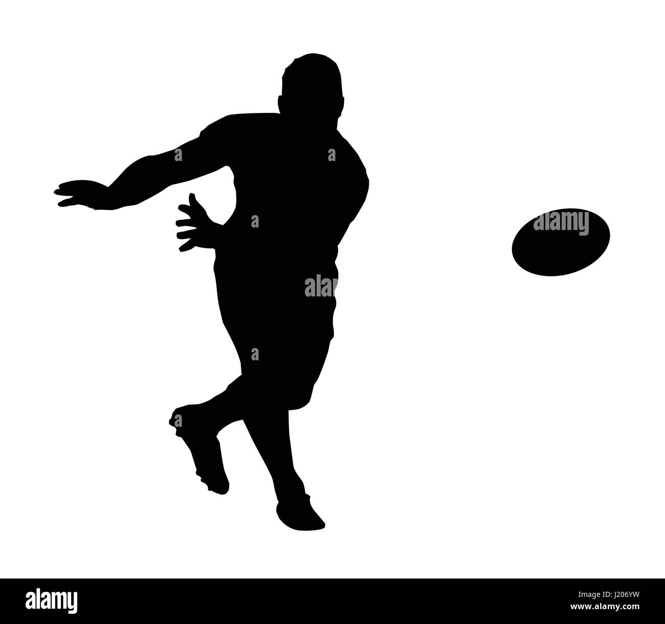 Rugby Football Black and White Stock Photos & Images - Alamy