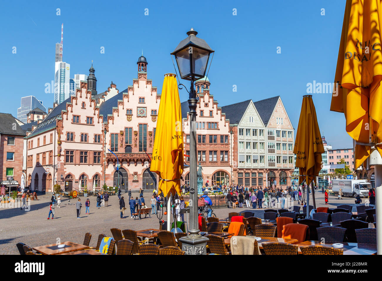 Frankfurt am main the r mer city hall stock image