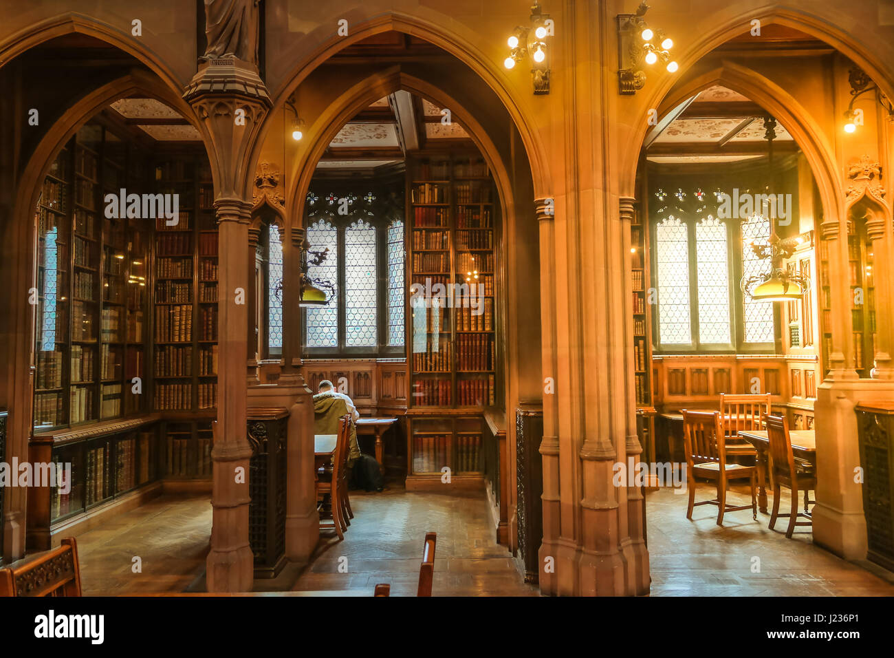 Reading Room Of The John Rylands Library In Manchester UK Historical Interiors