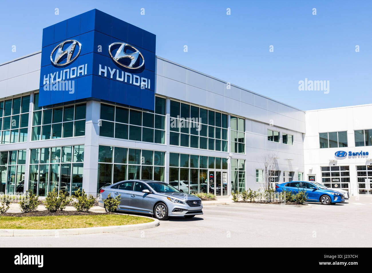 Hyundai motor company united states - Indianapolis Circa April 2017 Hyundai Motor Company Dealership Hyundai Is A South Korean