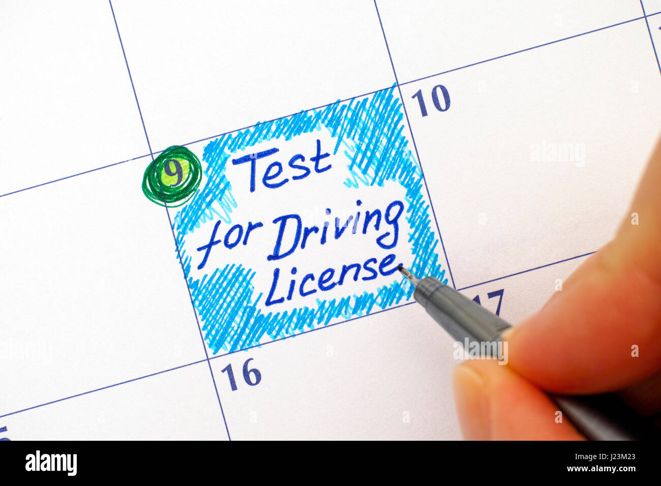 writing test license
