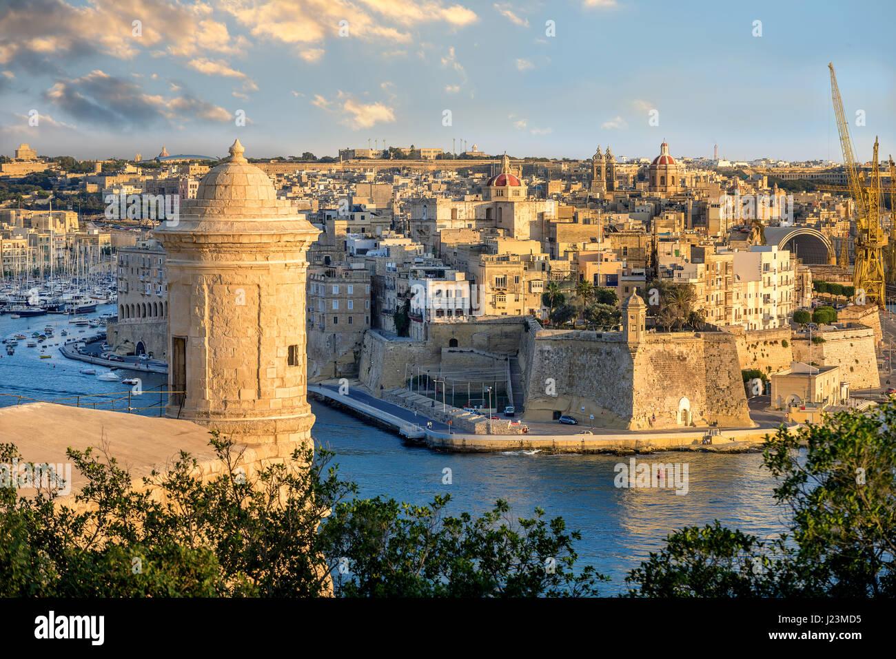 Valletta Harbour Malta Stock Photos & Valletta Harbour ...