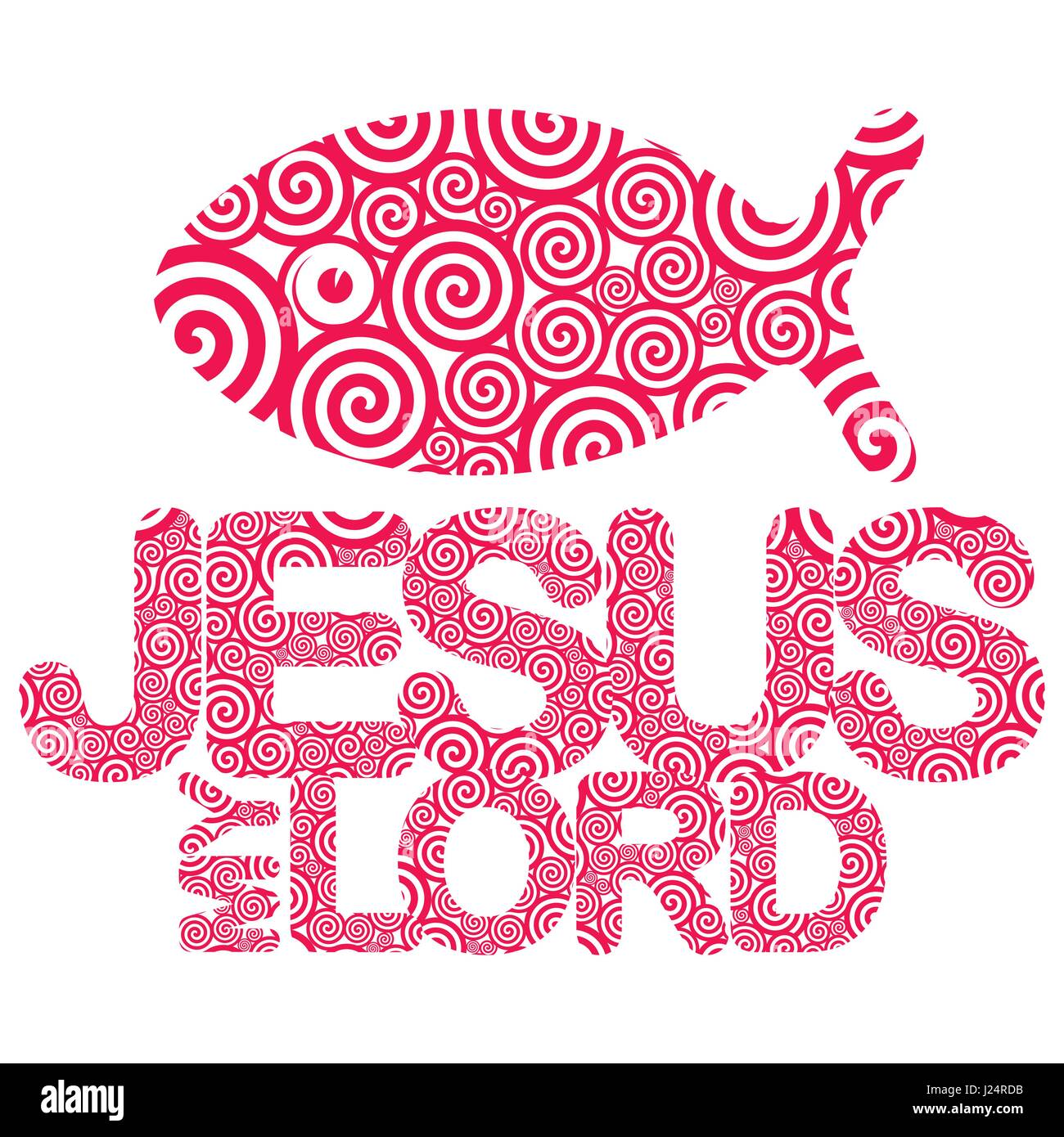 Christian print. Bible symbols. Jesus fish Stock Vector Art ...