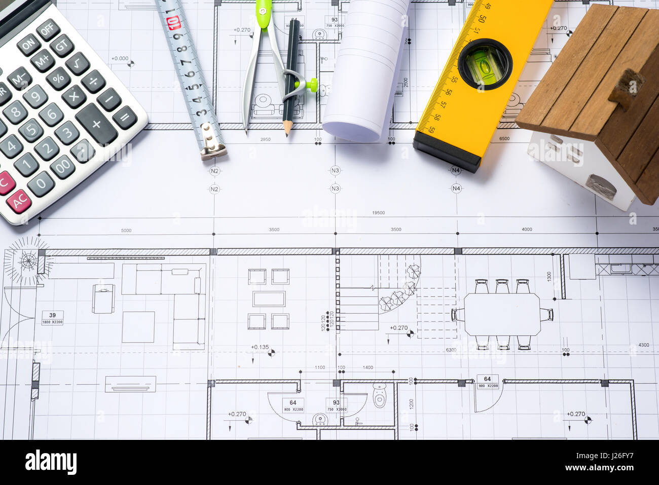 Costing stock photos costing stock images alamy for House plans with building cost estimates