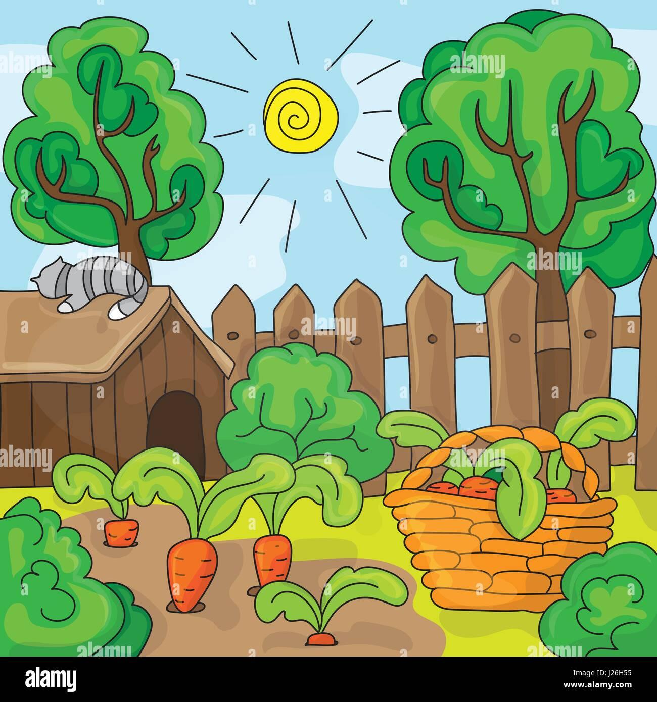Fresh Carrot Leaves Root Illustration Stock Photos & Fresh ...