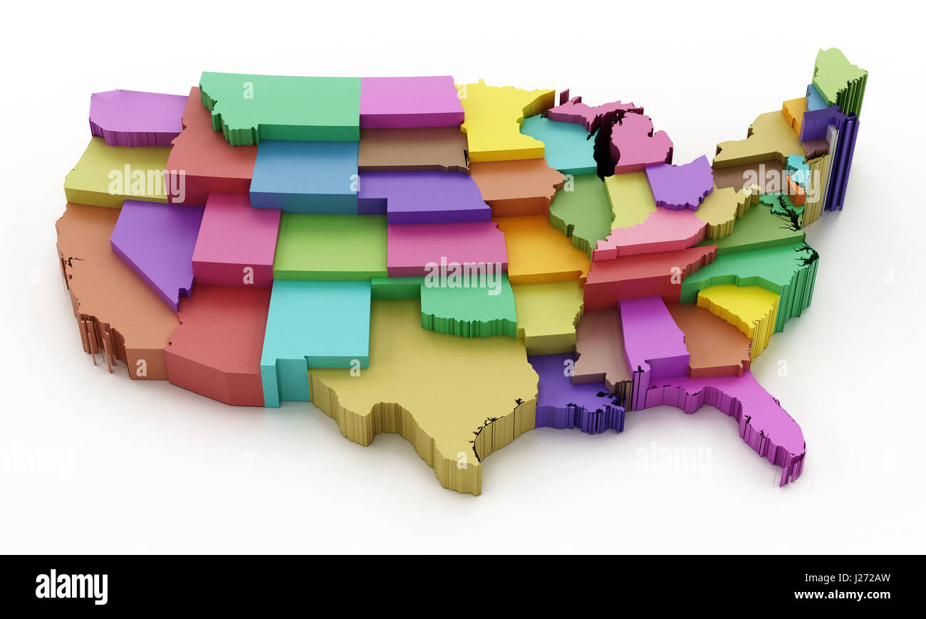 Oklahoma State Map Stock Photos Oklahoma State Map Stock Images - Colored us map