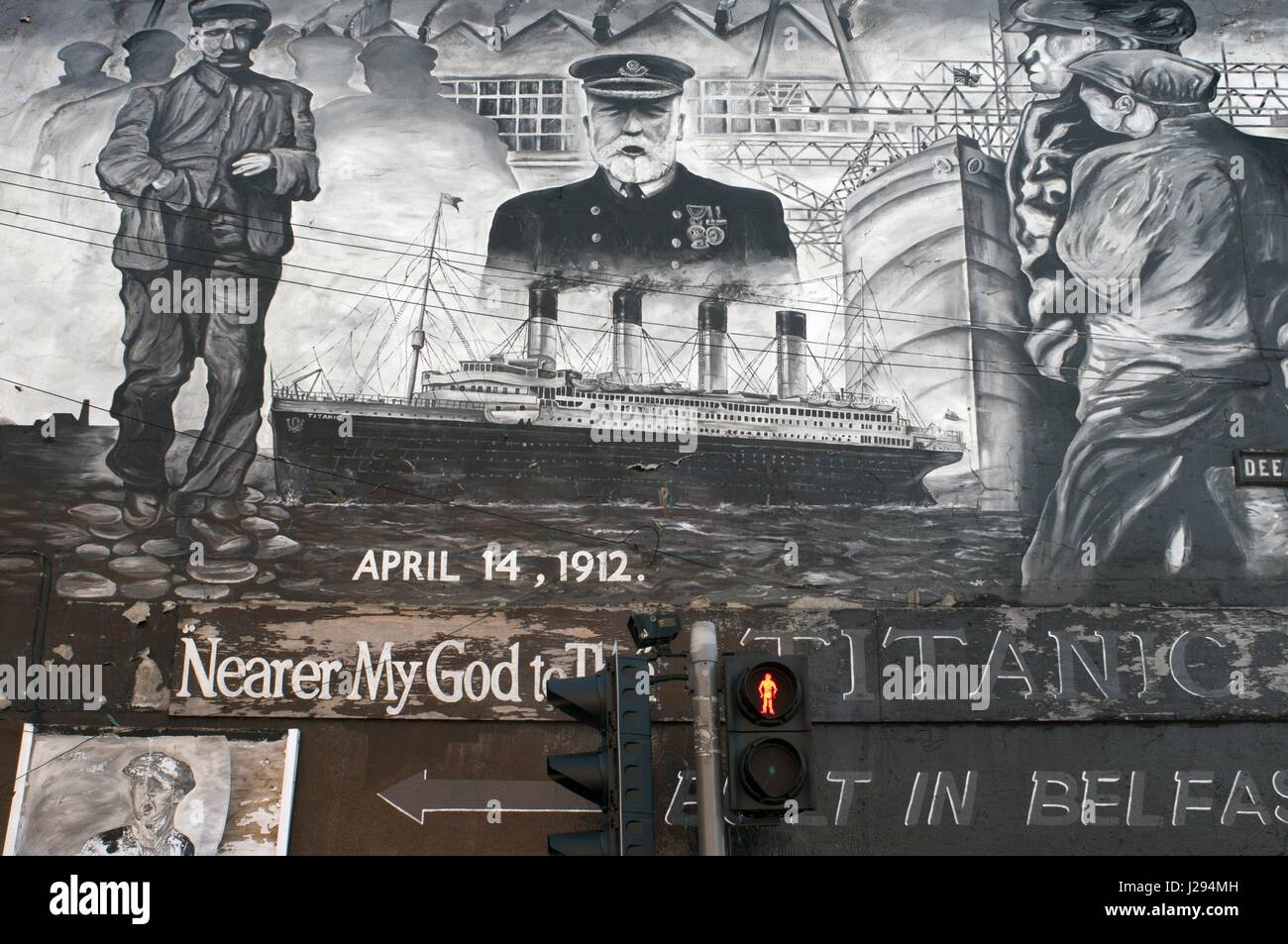 political wall murals belfast north stock photos political wall titanic wall mural dee street belfast northern ireland uk this wall