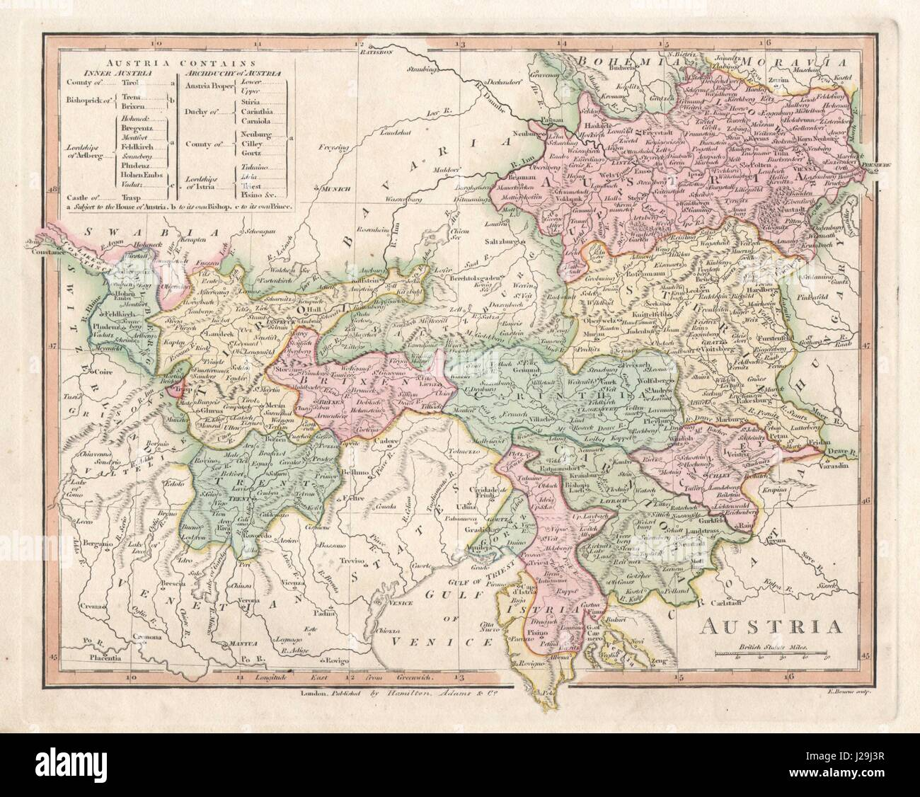 Austria Map Old Stock Photos Austria Map Old Stock Images Alamy - Robert wilkinson map of the us
