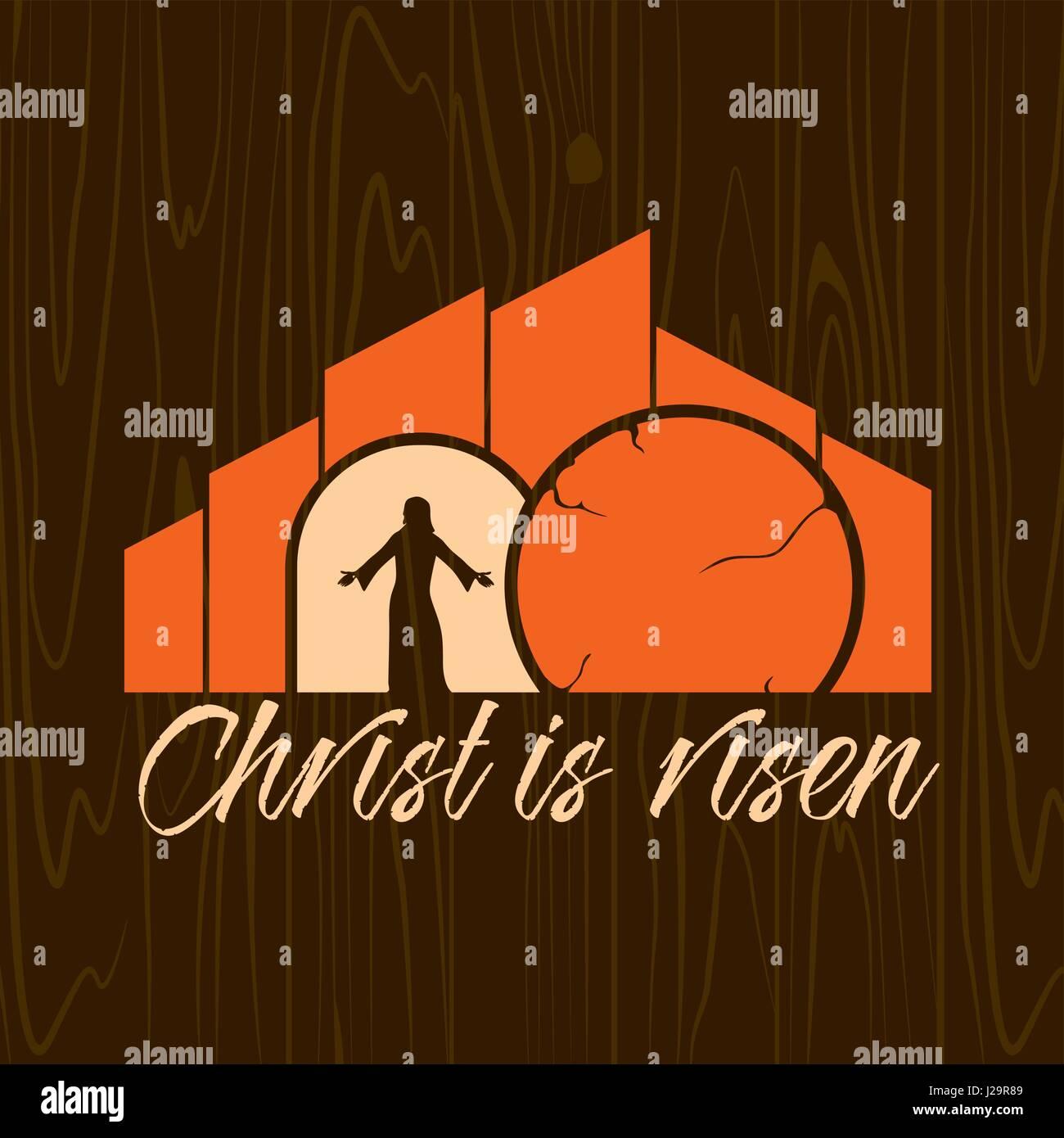 risen christ cross stock vector images alamy