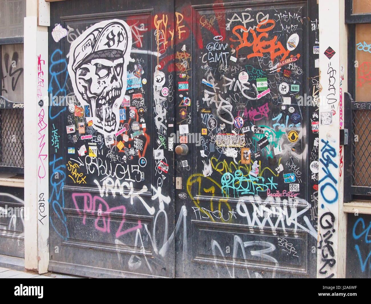 Graffiti wall amsterdam - Graffiti Wall Amsterdam Stock Image