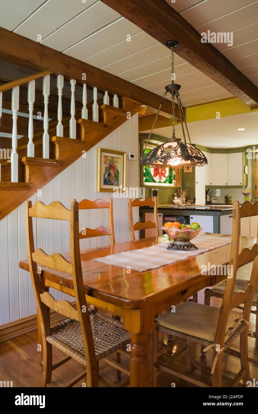 Antique wooden dining table - Antique Wooden Dining Table And High Back Chairs In The Dining Room Inside A Stacked