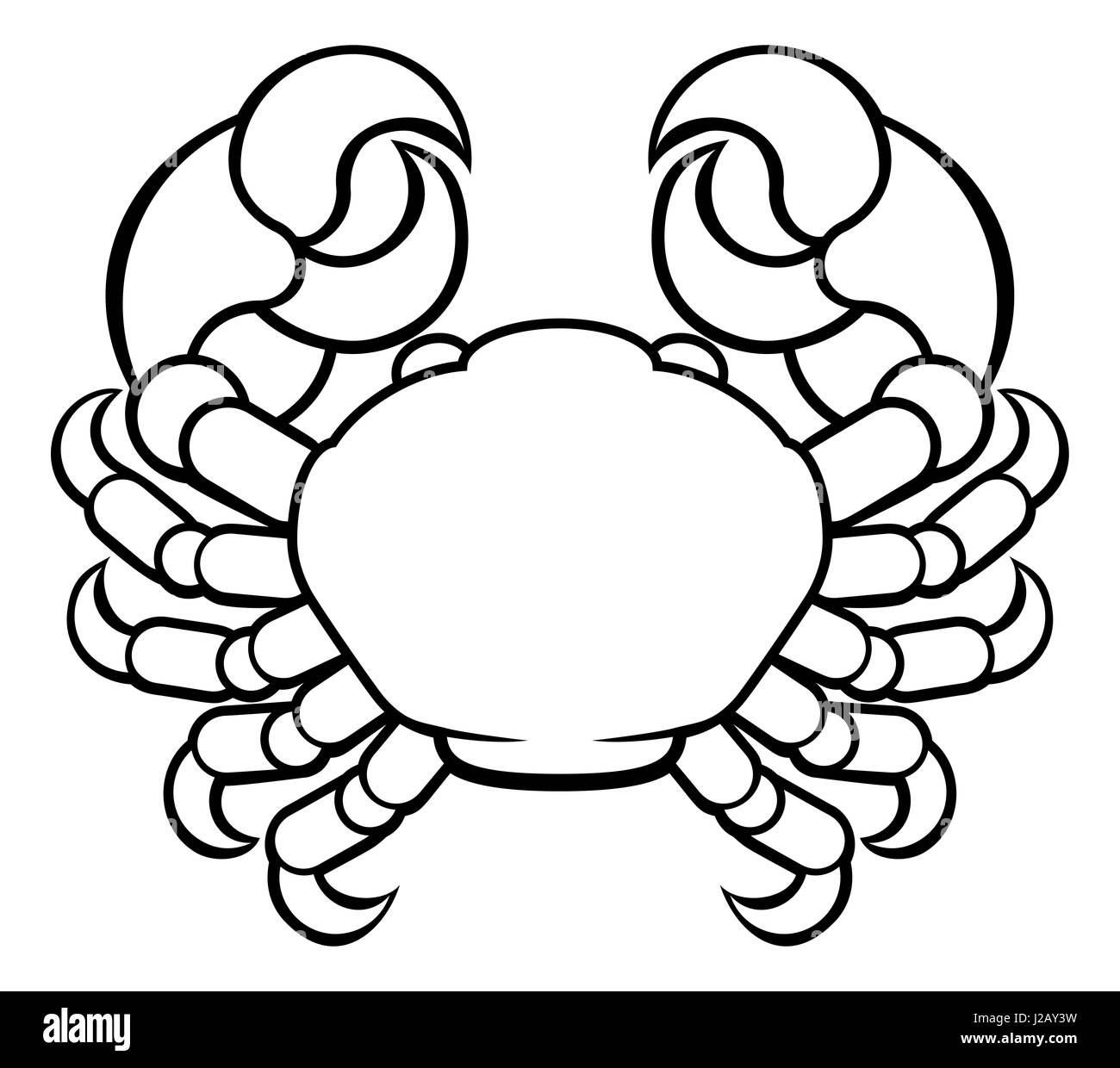 Astrology Horoscope Zodiac Signs Circular Cancer Crab Symbol Stock