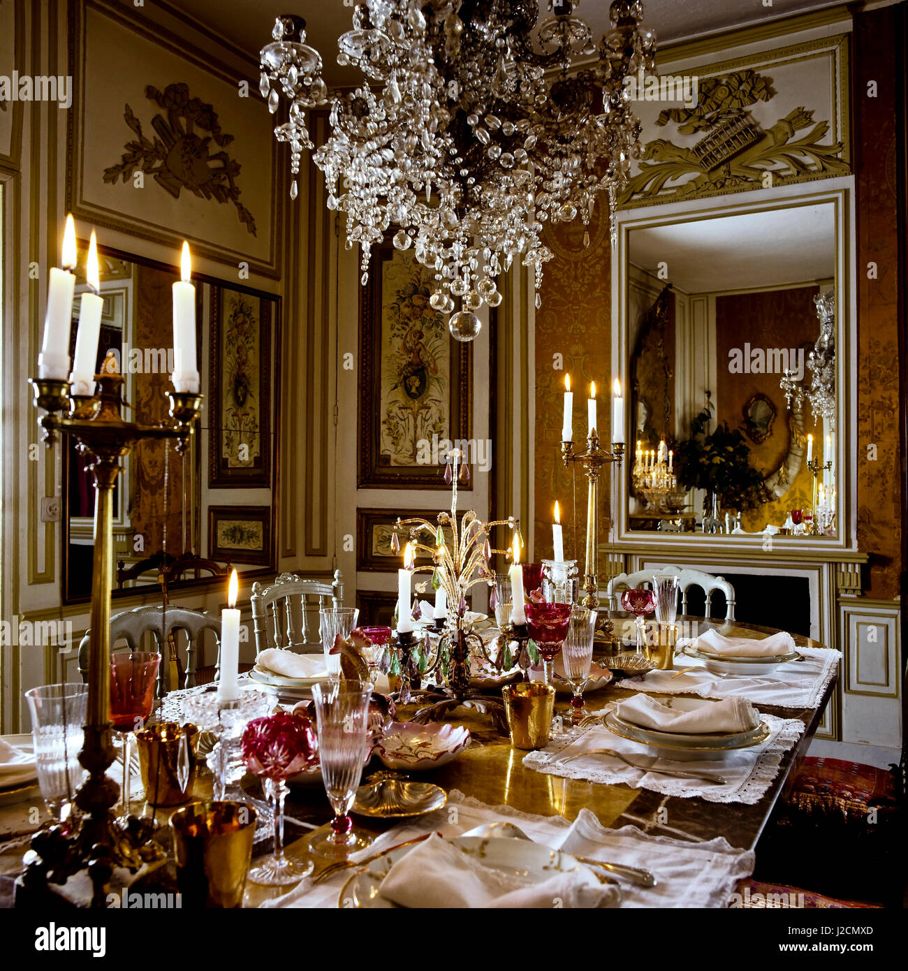 Opulent home interior stock photos opulent home interior for Best private dining rooms cheshire