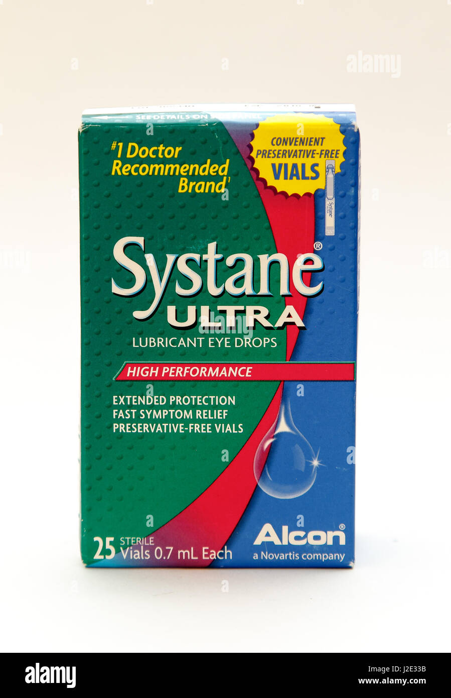 New York, January 25, 2017: A Pack Of Systane Lubricant Eye Drops Stands