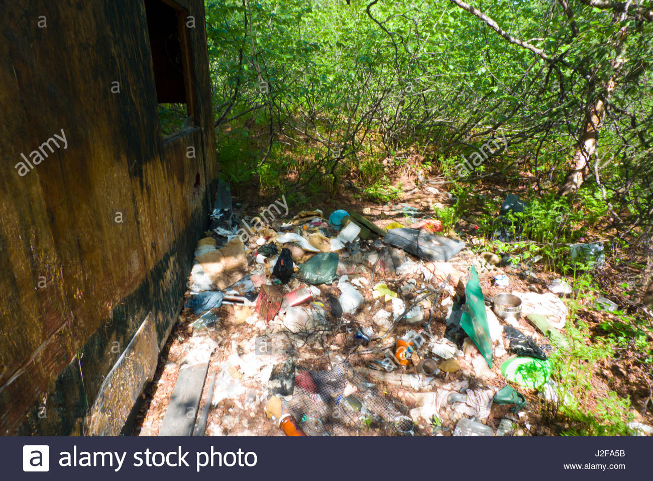 Alaska matanuska susitna county talkeetna - Piles Of Garbage At An Abandoned Squatter S Cabin Near Miami Lake Talkeetna Mountains Matanuska