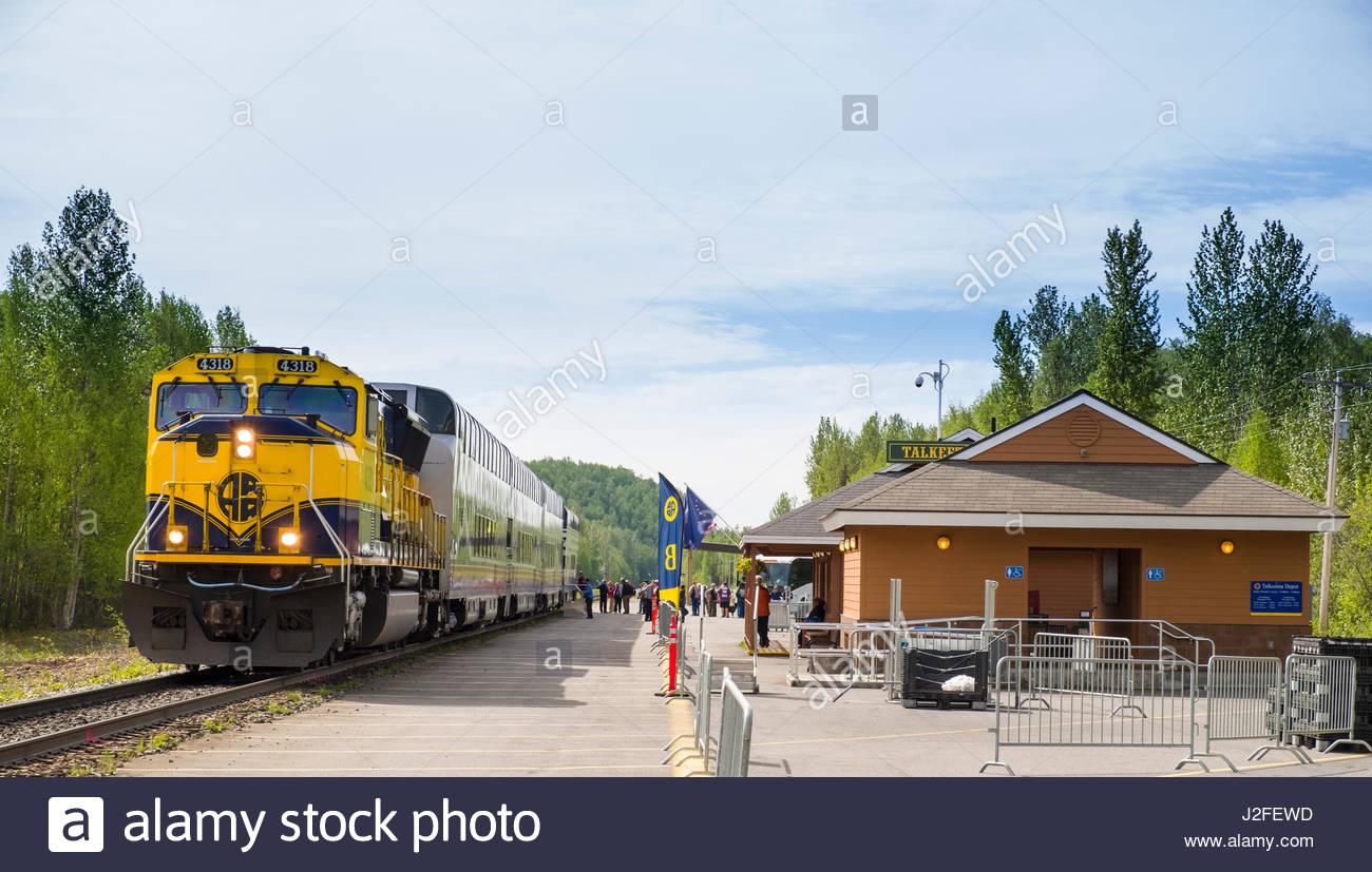 Alaska matanuska susitna county talkeetna - Alaska Railroad Premier Tourist Train The Denali Star At Talkeetna Matanuska Susitna