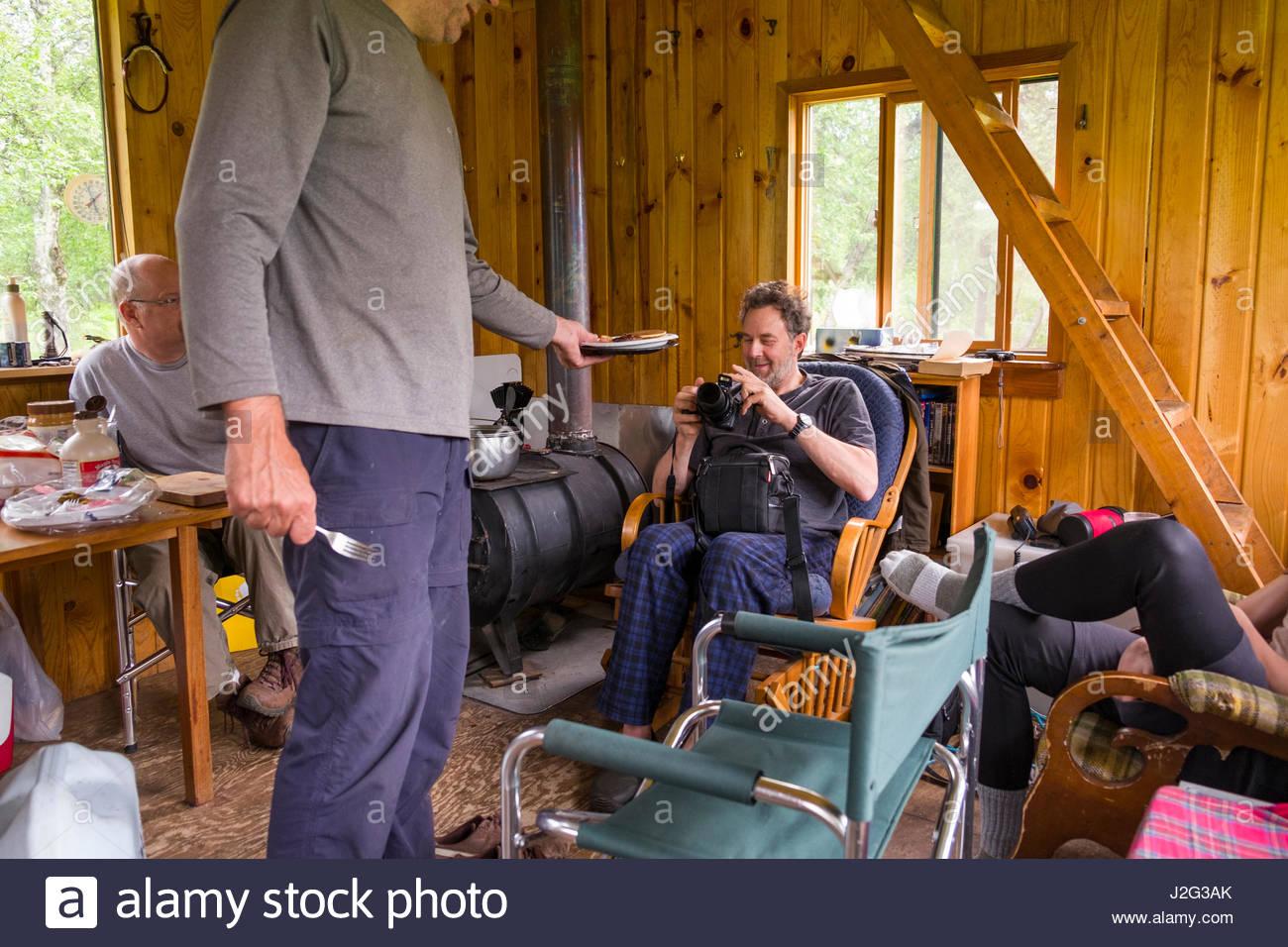 Alaska matanuska susitna county talkeetna - Men Inside Remote Off Grid Alaskan Cabin Talkeetna Mountains Matanuska Susitna