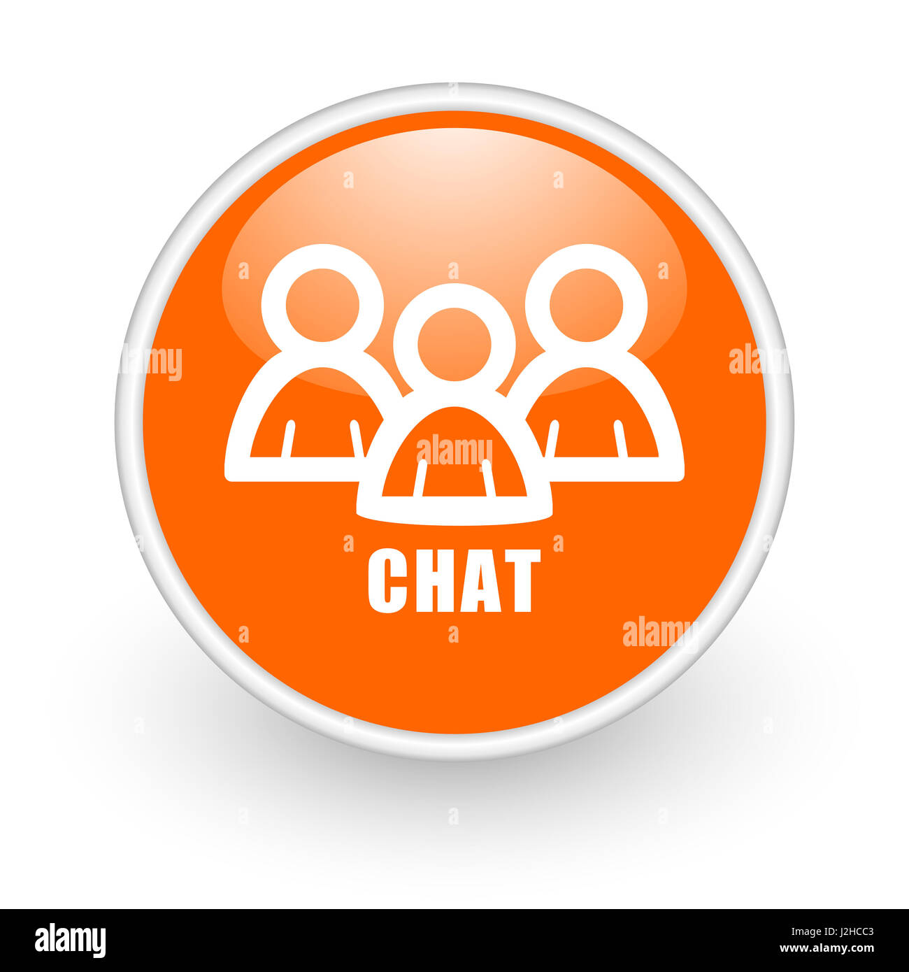 Chat icon stock photos chat icon stock images alamy - Chat orange ...